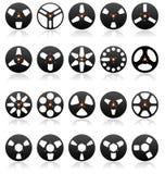 ikon analogowe rolki ustawiają taśma stereo wektor Zdjęcie Royalty Free