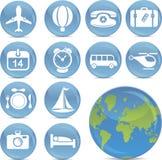 ikon błyszczący podróży wektor Obraz Royalty Free