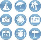 ikon błyszczący podróży wektor Zdjęcie Stock