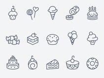 ikon ciasta cukierki Obraz Royalty Free