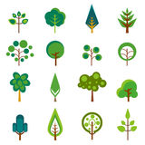 ikon drzewa wektor Obraz Stock