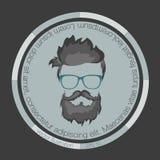 Ikon fryzur broda ilustracji