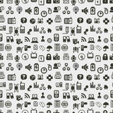ikon ilustraci wzoru bezszwowa wektorowa sieć Zdjęcia Stock
