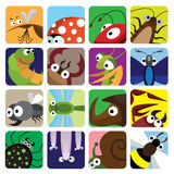 ikon insekta set Zdjęcia Royalty Free