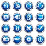 ikon internetów ustalona miejsca dwa sieć Fotografia Stock