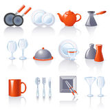 ikon kuchni naczynie ilustracja wektor