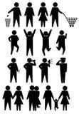 ikon ludzie schematic setu Obraz Stock