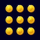 Ikon monety dla gemowego interfejsu Zdjęcie Stock