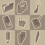 ikon monochromu biuro Royalty Ilustracja