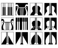 ikon muzyki set Obrazy Stock