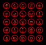 ikon neon czerwień Obraz Royalty Free