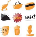 ikon online sklep gładki Obraz Royalty Free