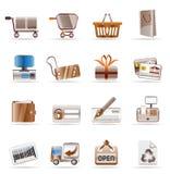 ikon online sklepu miejsca sieć Obraz Stock