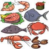 ikon owoce morza set Zdjęcie Stock