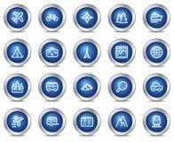 ikon podróży sieć royalty ilustracja