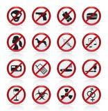 ikon prohibici znak Zdjęcie Royalty Free