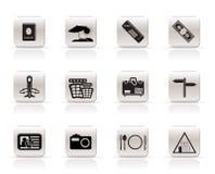 ikon prosta podróży wycieczka Zdjęcia Stock