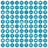 100 ikon sapphirine multimedialny fiołek Obrazy Stock