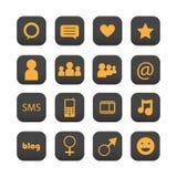 ikon sieci socjalny Zdjęcia Royalty Free