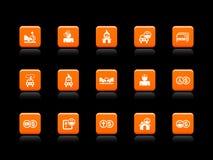 ikon ubezpieczenia pomarańcze ilustracja wektor