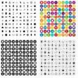 100 ikon ustawiający historia wektorowy wariant royalty ilustracja