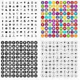 100 ikon ustawiający przywódctwo wektorowy wariant ilustracji