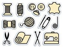 ikon uszycia target1678_0_ royalty ilustracja