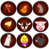 Ikon zwierzęta gospodarskie Obraz Royalty Free