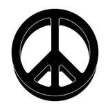 Ikona świat Hipis pojedyncza ikona w czerń stylu symbolu zapasu ilustraci wektorowej sieci Obraz Stock