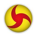 Ikona żółty guzik Fotografia Stock
