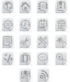 ikona 1 internetu papiro zestaw Obraz Royalty Free