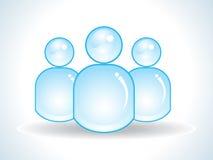 ikona abstrakcjonistyczni błękitny glansowani użytkownicy Zdjęcia Stock