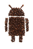 Ikona android na białym tle ilustracja wektor