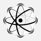 Ikona atomu model atom, atomowy symbo Zdjęcie Stock