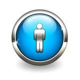 ikona błękitny mężczyzna Fotografia Royalty Free