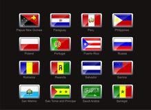 ikona bandery zestaw Zdjęcie Stock