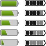Ikona bateryjny Set Zdjęcia Stock