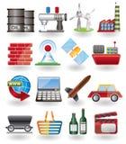 ikona biznesowy przemysł Fotografia Stock
