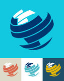 ikona biznesowy świat Obrazy Royalty Free