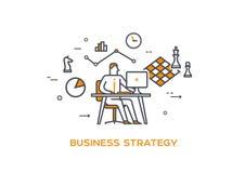 Ikona biznesu 05 ilustracyjna strategia biznesowa Zdjęcia Stock