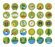 ikona campingowy set Obrazy Stock