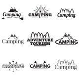 ikona campingowy set Zdjęcia Stock