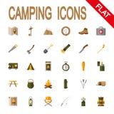 ikona campingowy set Fotografia Royalty Free