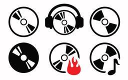 ikona cd Zdjęcia Stock