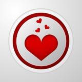 Ikona dla blogu Czerwony serce royalty ilustracja