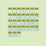 Ikona dla each kalendarzowego dnia Zdjęcia Stock
