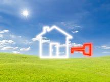 ikona domowy klucz Obraz Stock