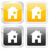 ikona domowy kwadrat Zdjęcia Stock