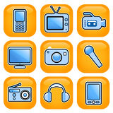 ikona elektroniczny set Obrazy Stock