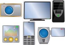 ikona elektroniczny set Fotografia Royalty Free